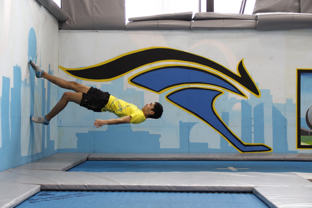 Image result for trampoline wall walk